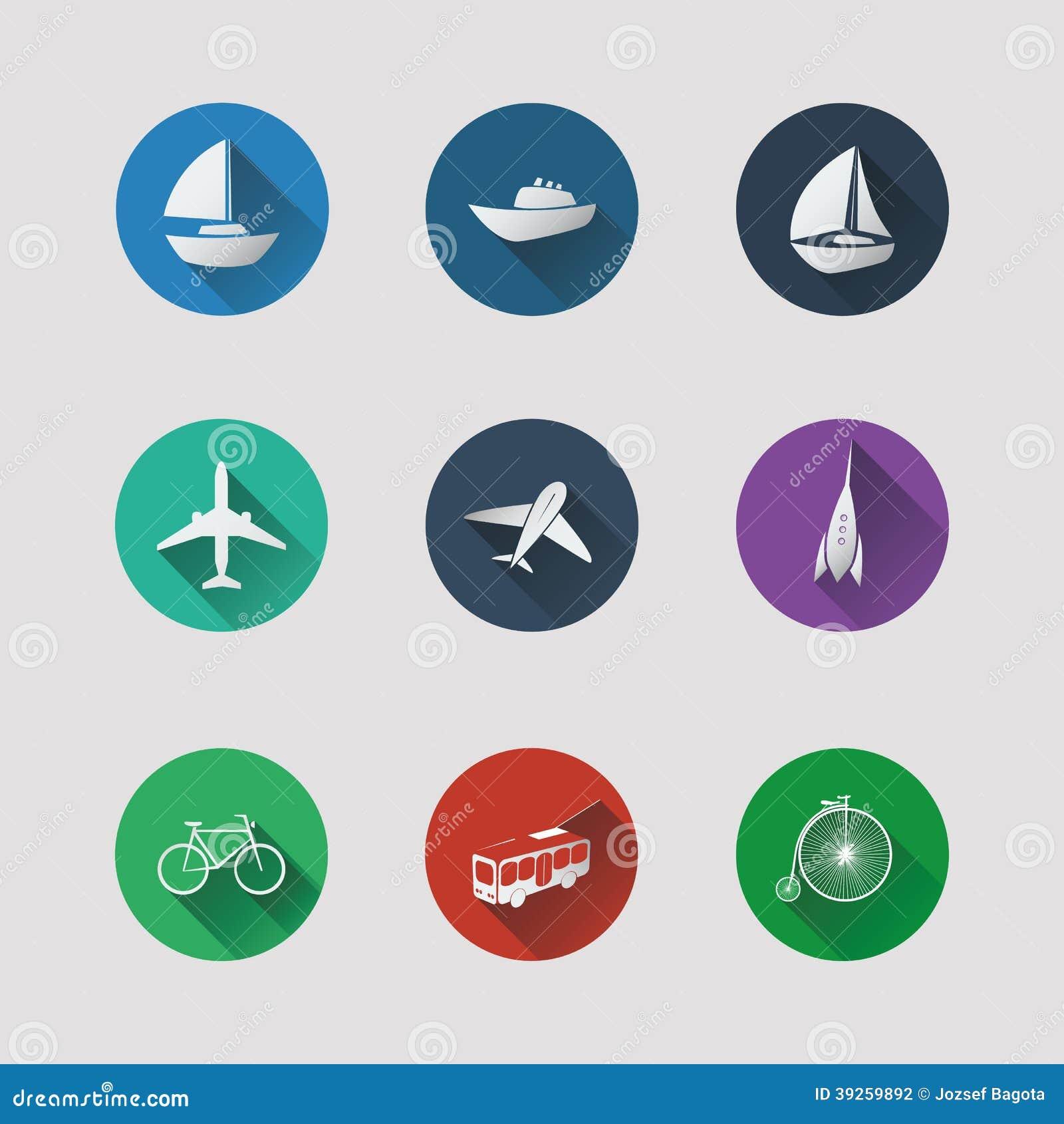 Plana UI-symboler för rengöringsduk- och mobilapplikationer