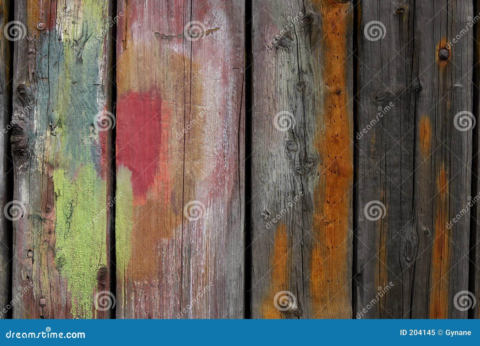 Plance di legno verniciate