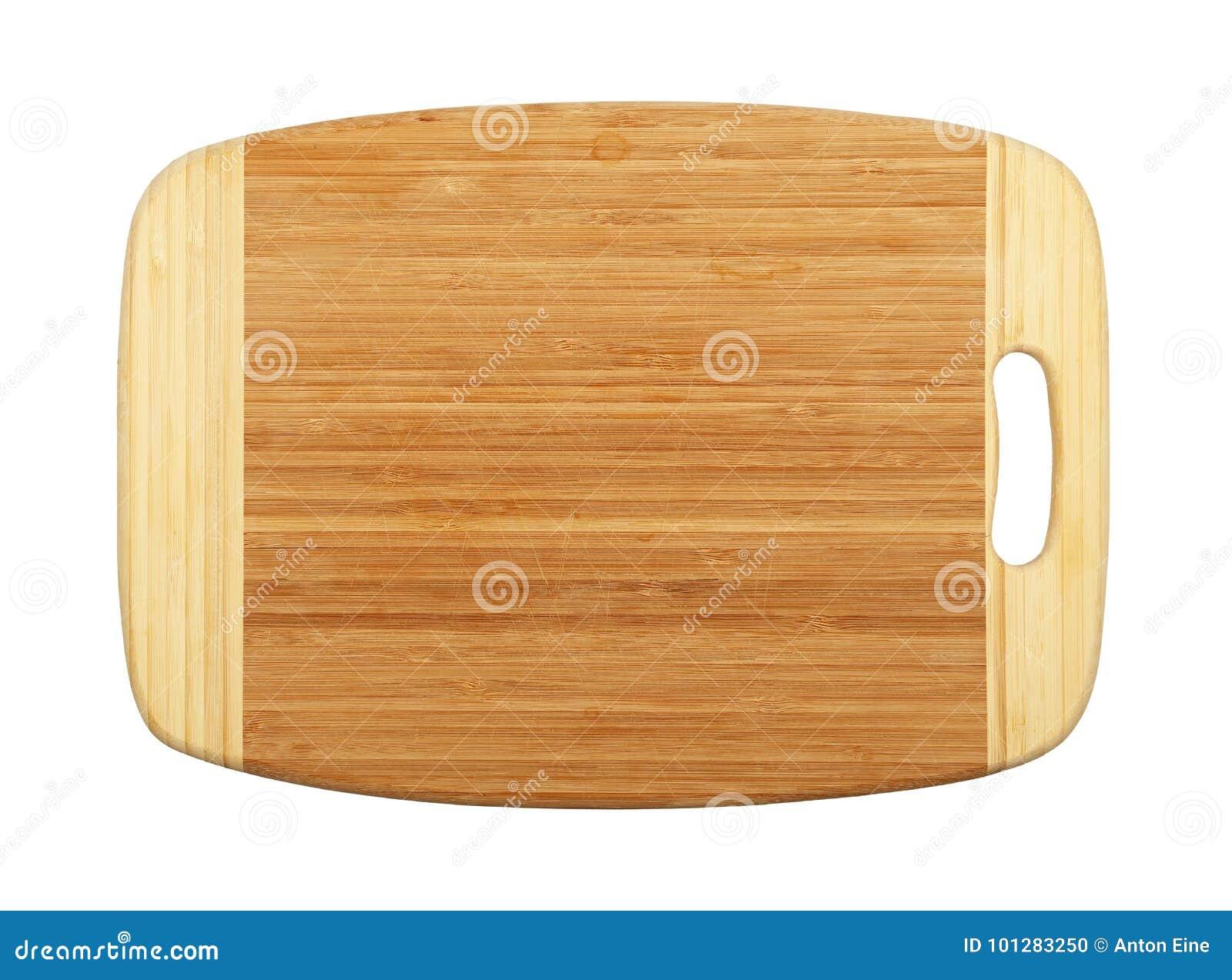 Planche à découper en bois en bambou rectangulaire d isolement