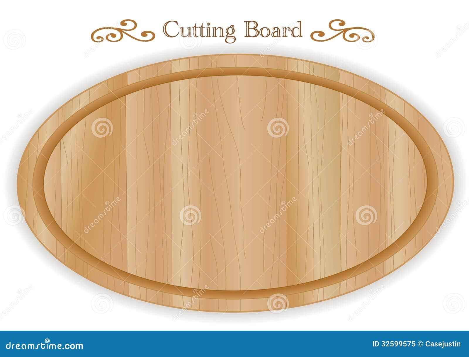 Planche d couper en bois ovale illustration de vecteur for Planche en bois pour cuisine