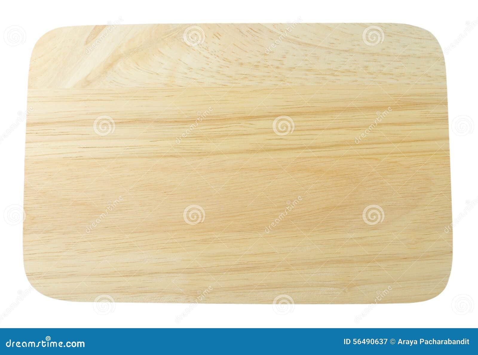 Planche à découper en bois vide d isolement sur le blanc