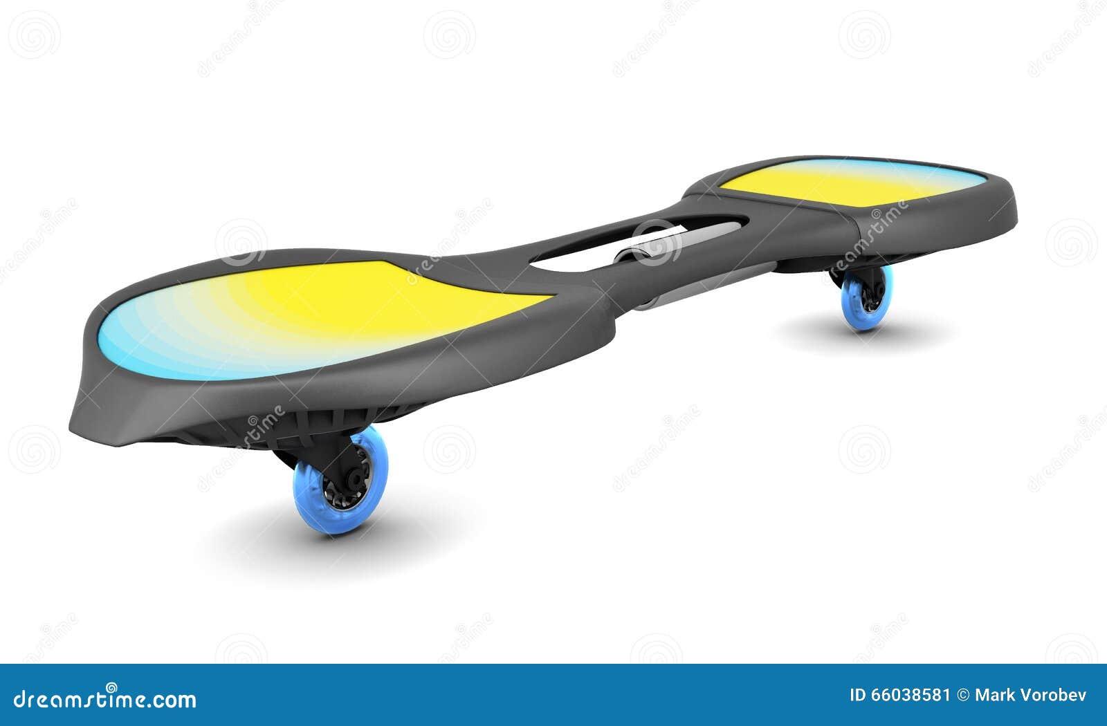 Planche roulettes deux roues d 39 isolement sur le fond - Planche a roulette ...