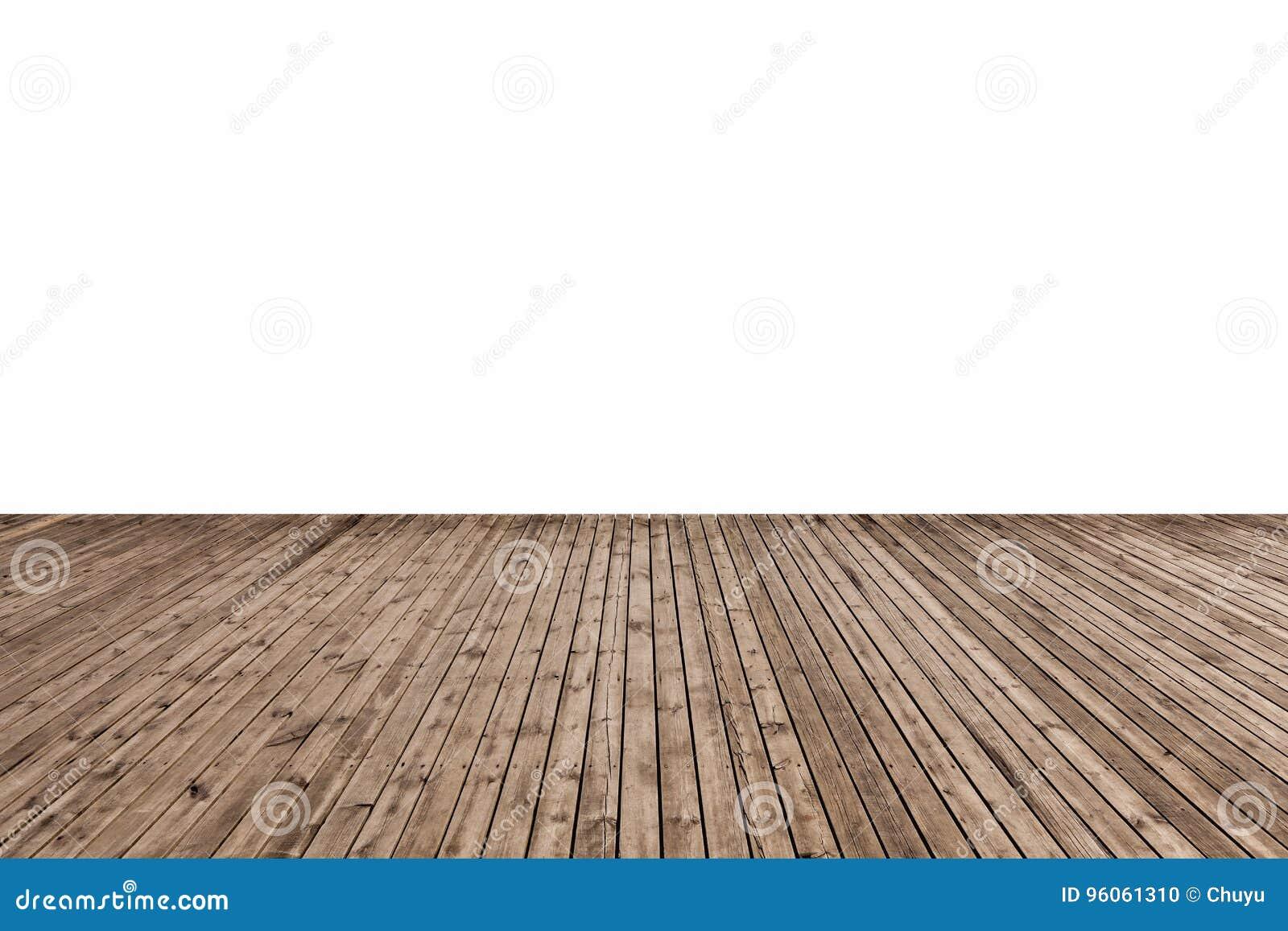 Plancher en bois d isolement