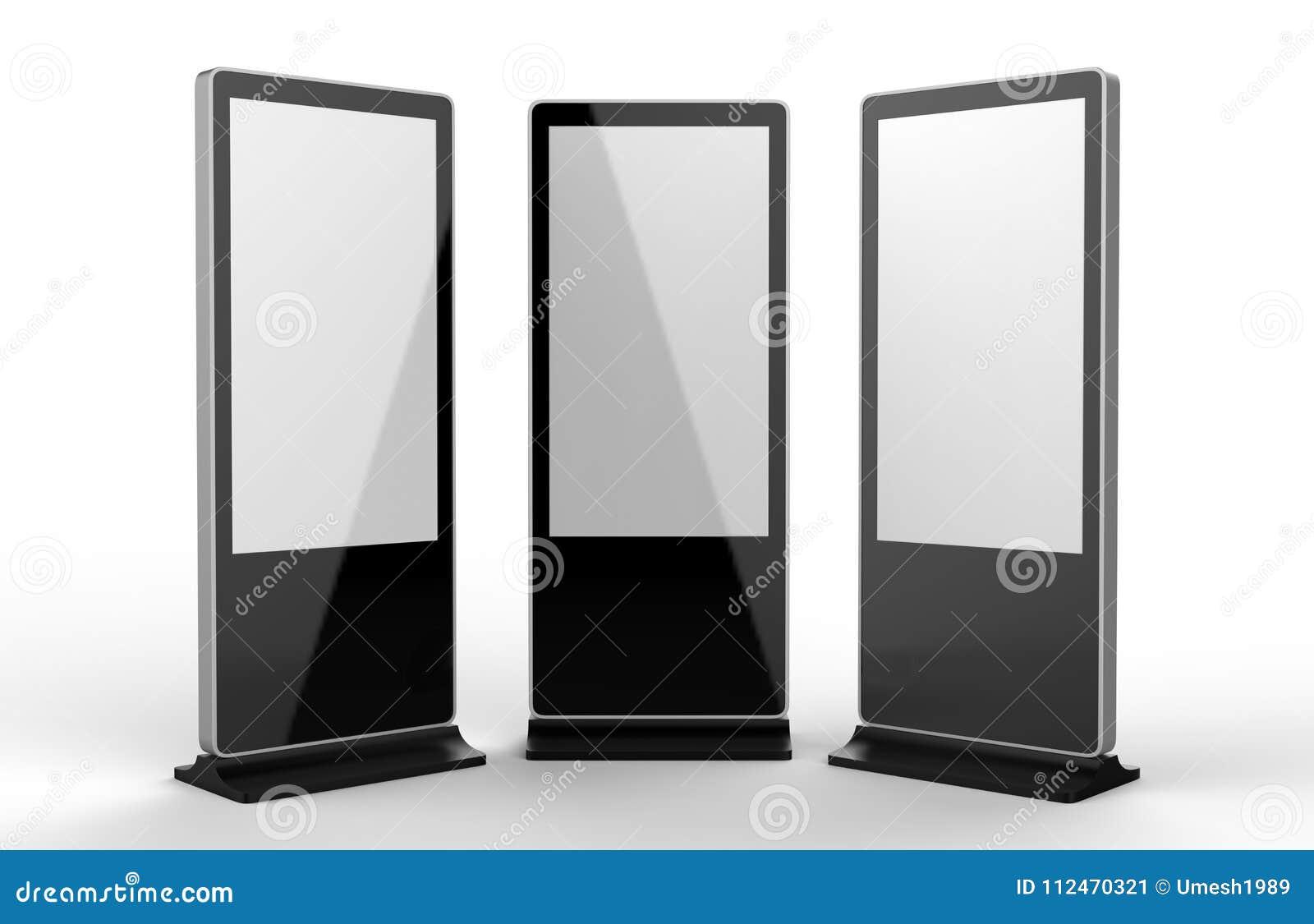 Plancher multi de contact de réseau de WiFi tenant le moniteur numérique de contact d affichage de signage d affichage d annonce