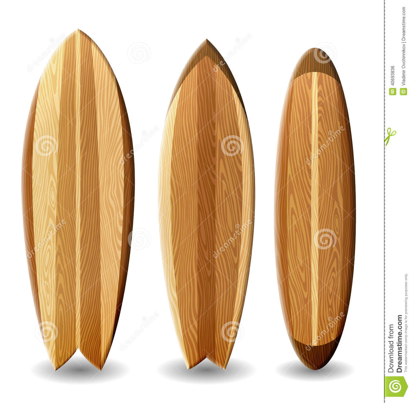 planches de surf en bois illustration stock illustration du surfer 40693836. Black Bedroom Furniture Sets. Home Design Ideas