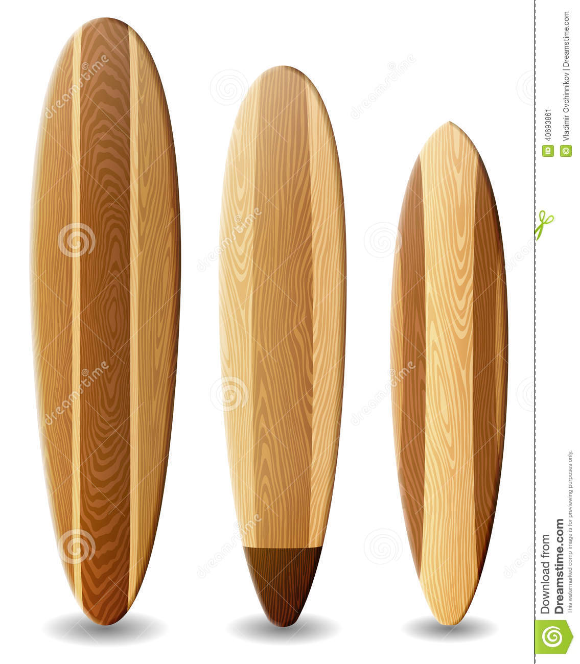 Planches De Surf En Bois Illustration Stock Image 40693861