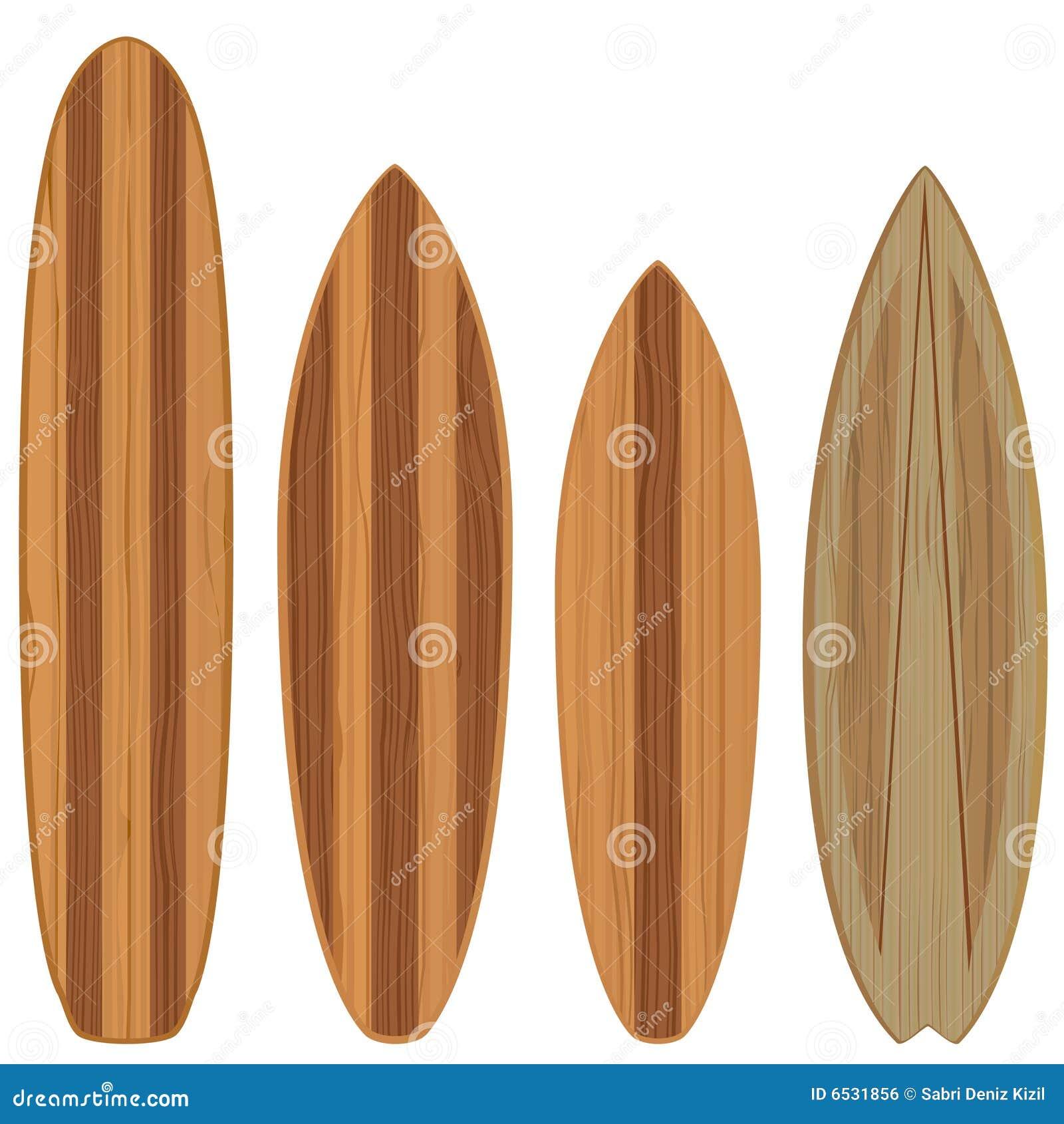 Planches de surfing en bois