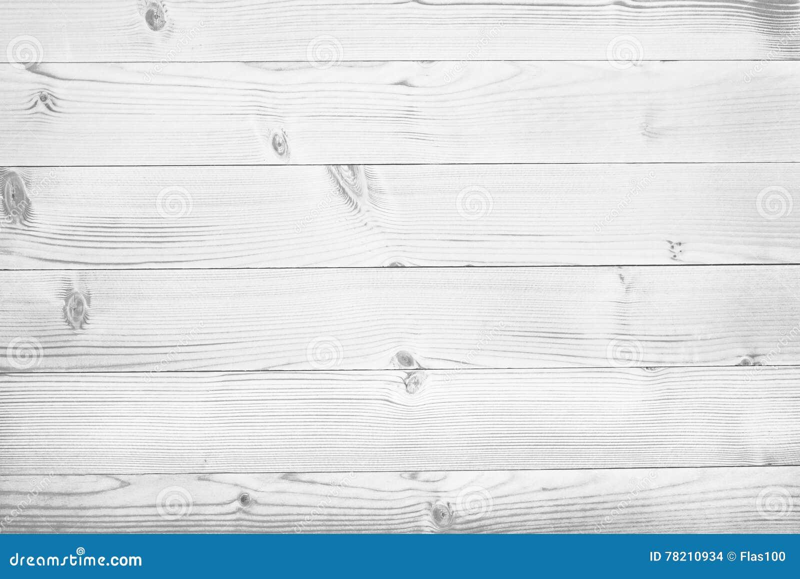 Planches en bois blanches dessus de table surface de plancher de parquet