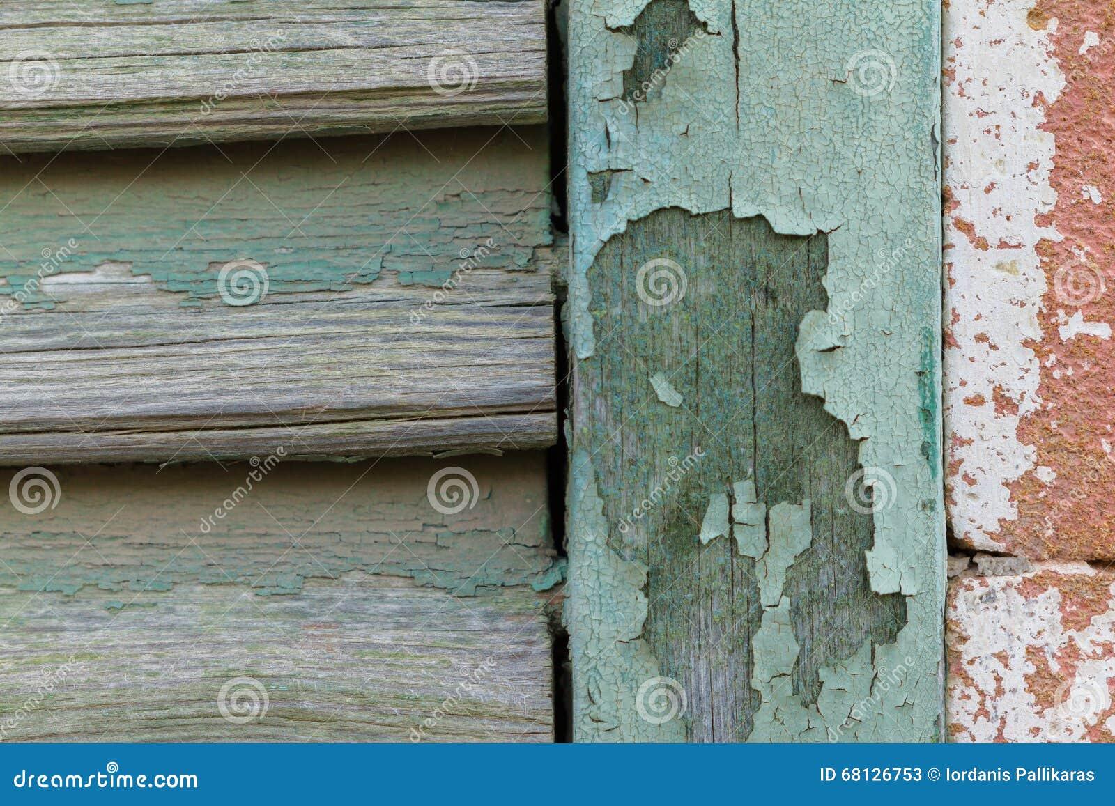 Planches En Bois Dépluchage De Fenêtre Cyan De Peinture Et Mur De