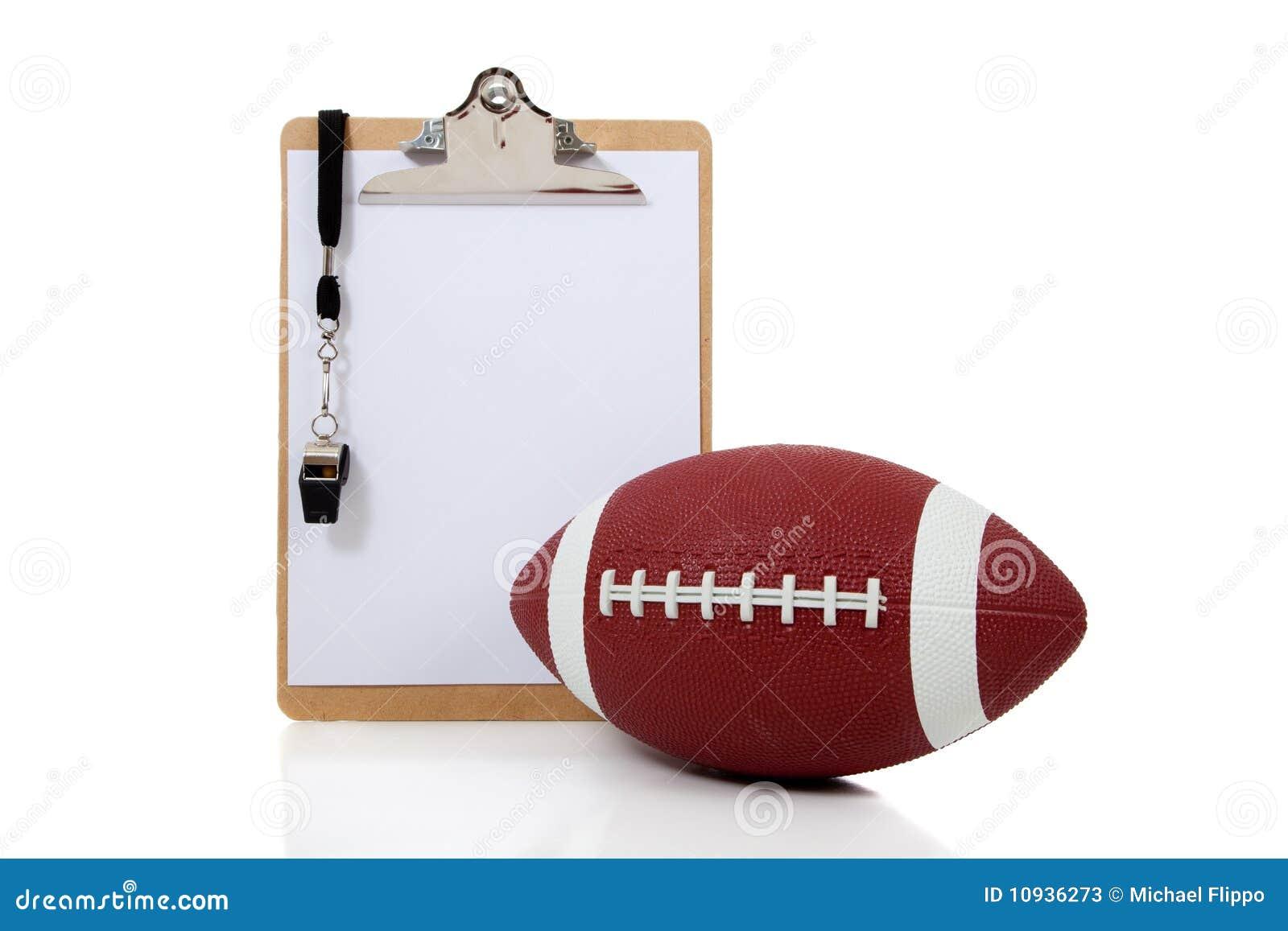 Planchette d entraîneurs de football américain avec le football américain
