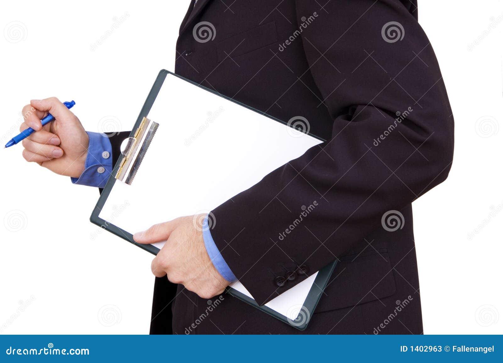 Planchette de fixation d homme d affaires
