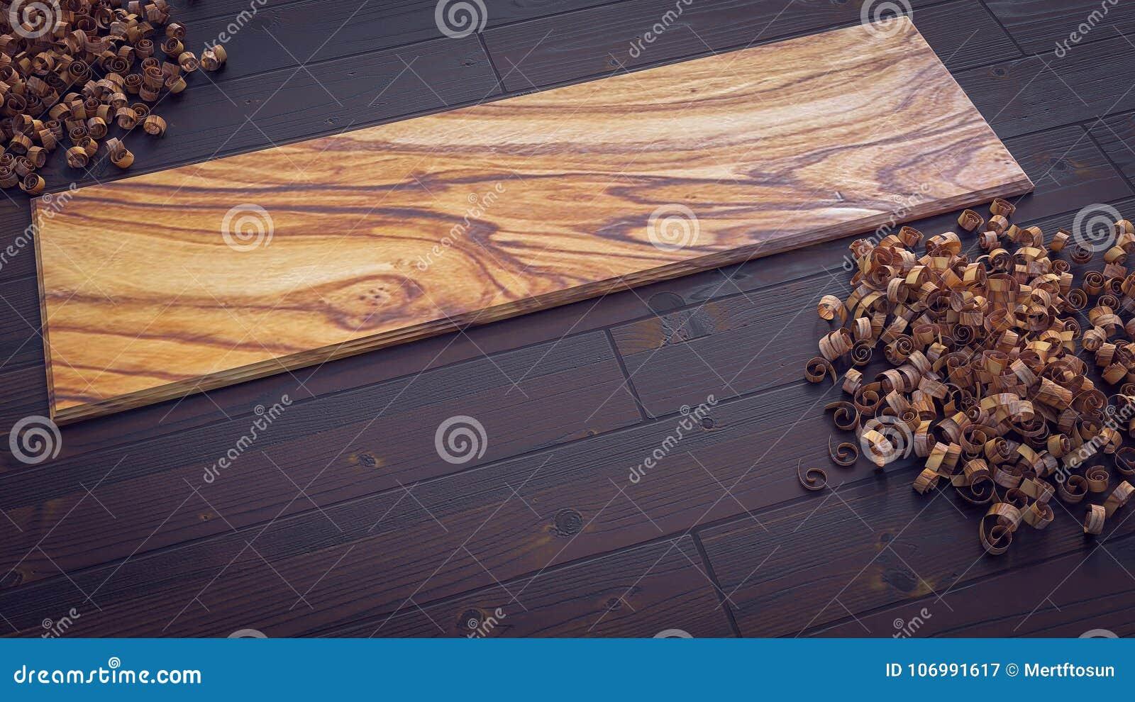 Parquet In Legno Di Ulivo plancia di legno verde oliva sul parquet con l'illustrazione