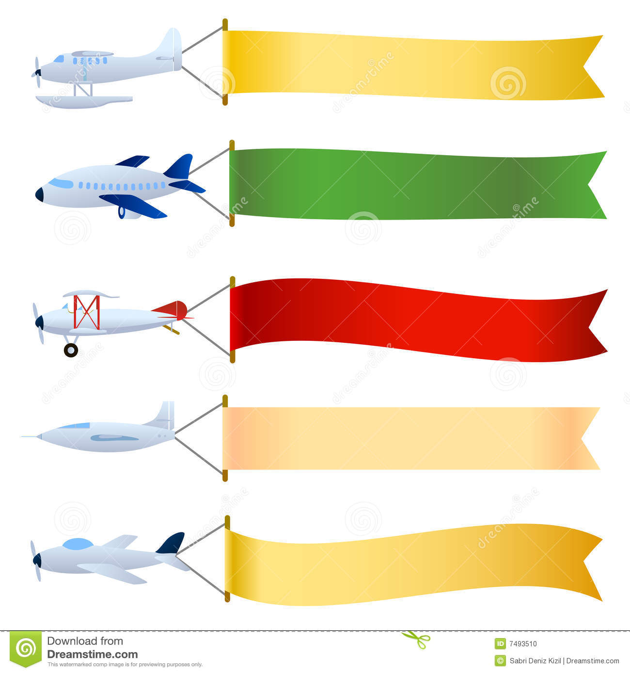 Plane with blank set