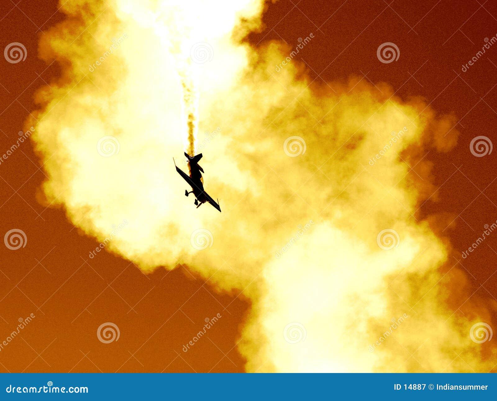 Plane in the cloud of smoke II
