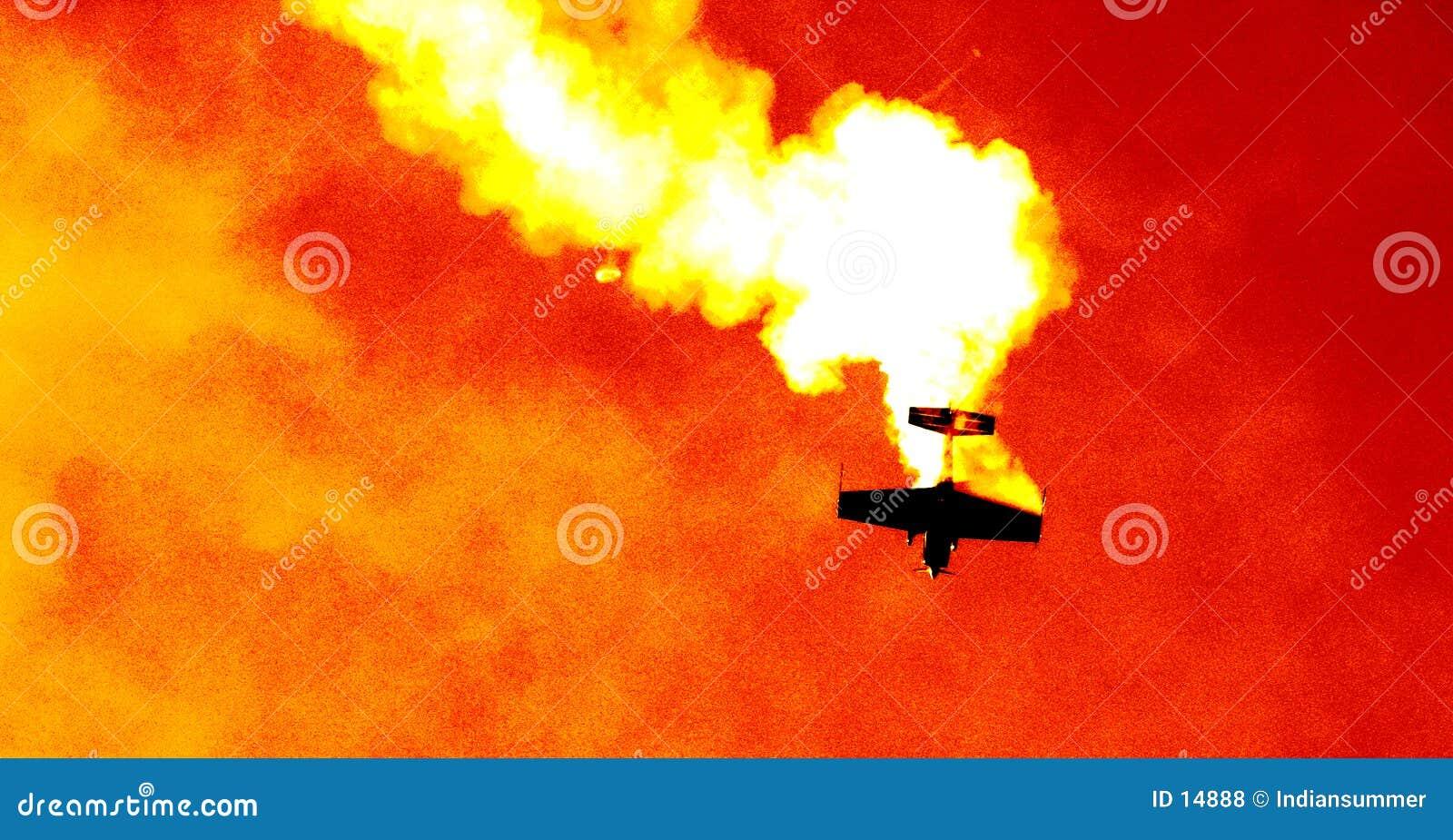 Plane in the cloud of smoke III