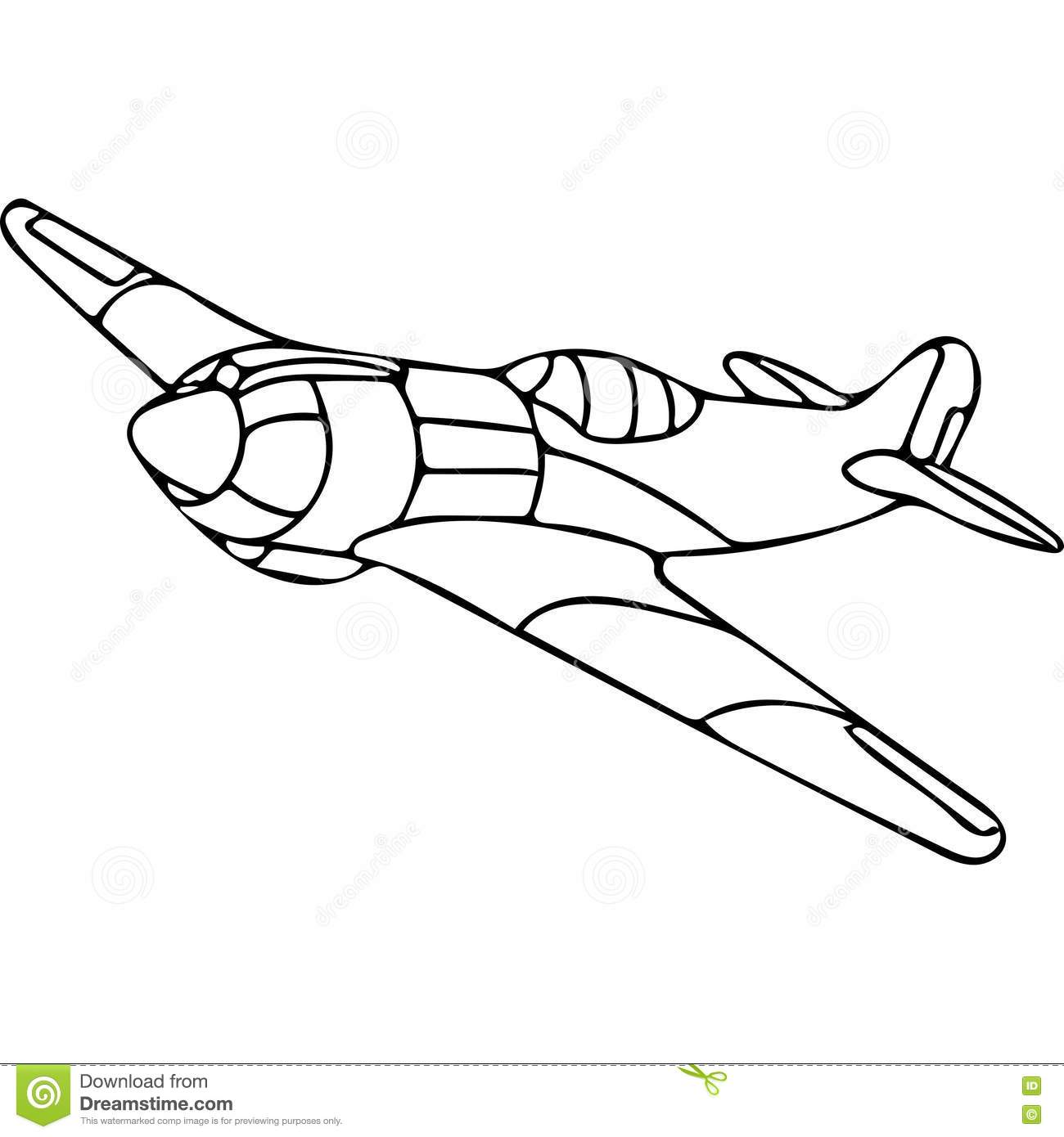 Plane coloring pages stock illustration. Illustration of needs ...