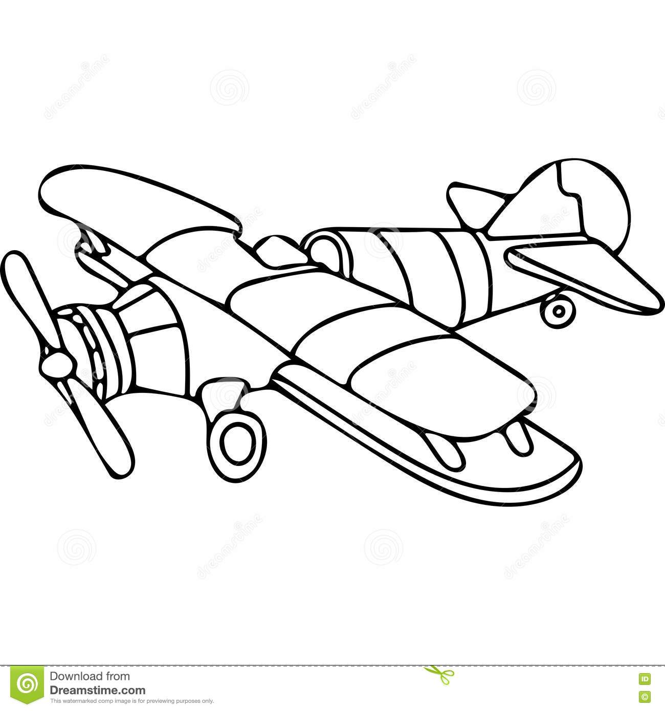 Plane Coloring Pages Stock Illustration Illustration Of