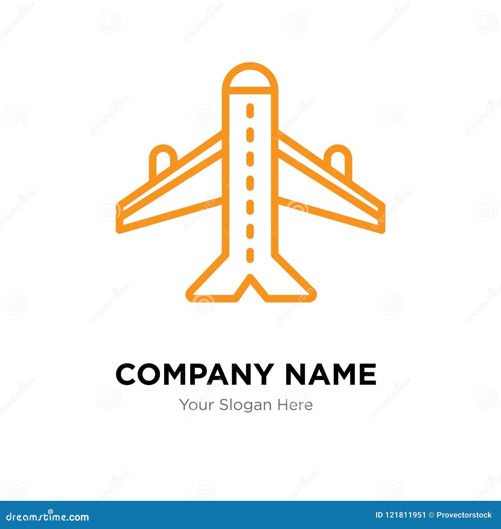 plane company logo design stock vector illustration of flight