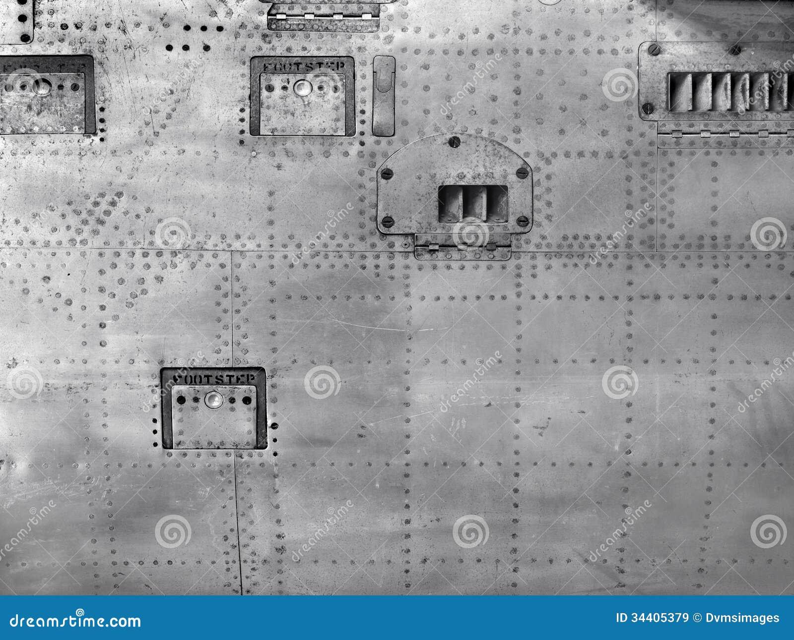 Plane Fuselage Stock Image Image Of Grey Background