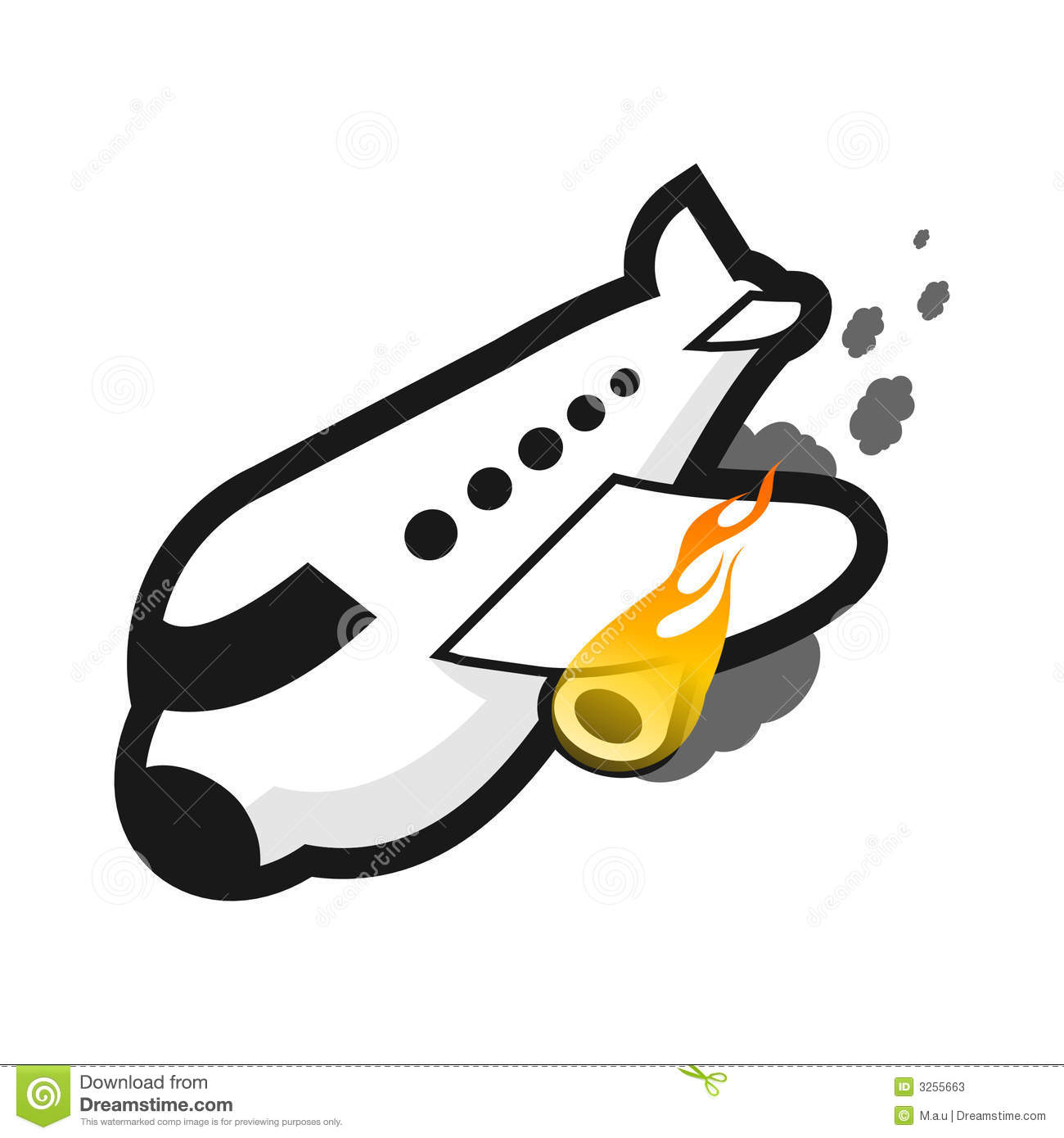 Plane On Fire Stock Photos - Image: 3255663