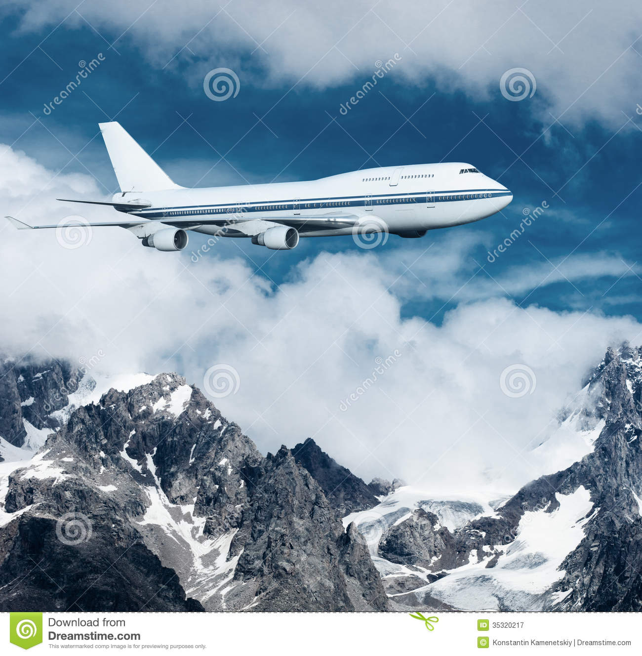 plane clouds and mountains - photo #9