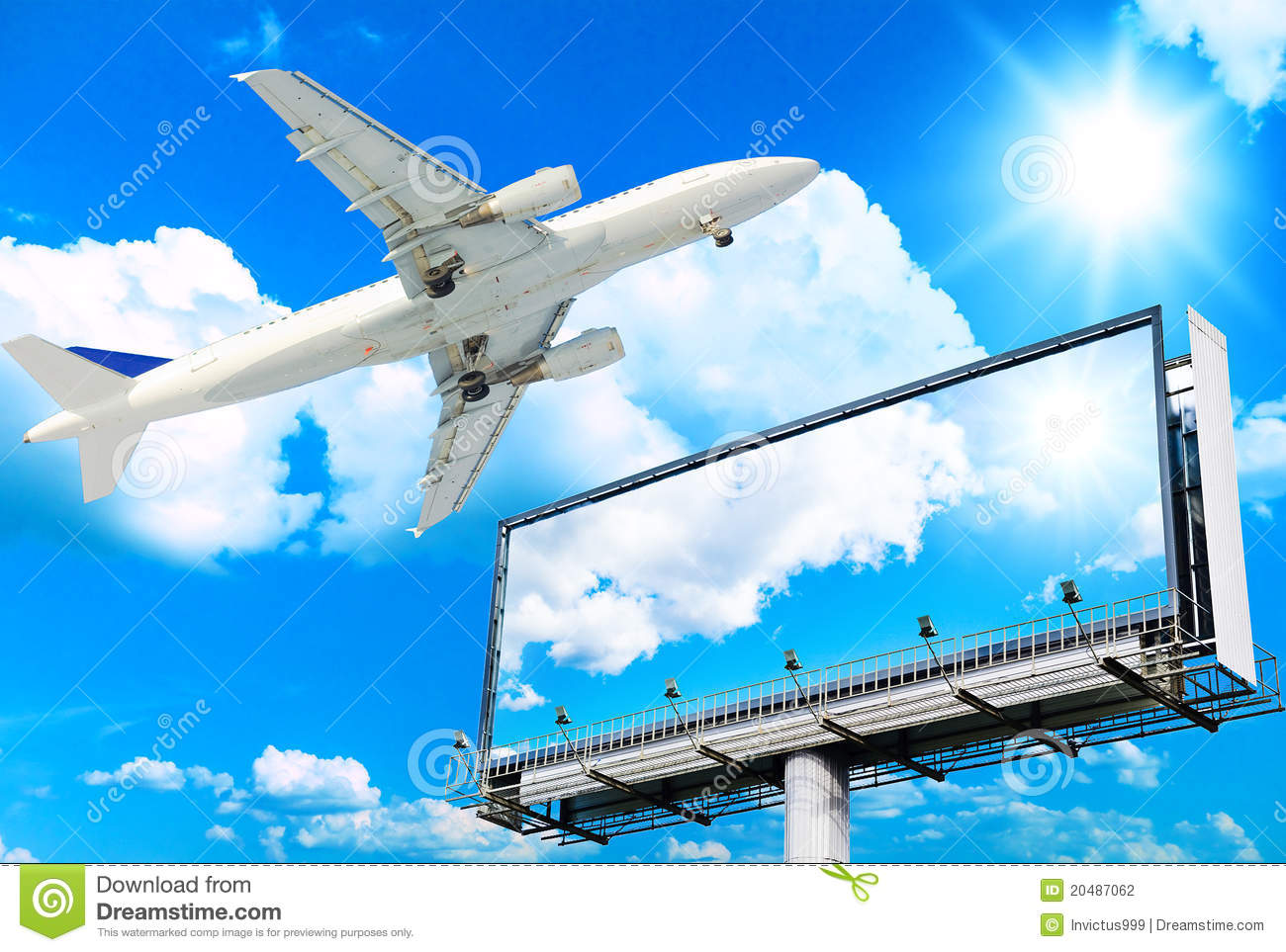 Plane and Giant Poster