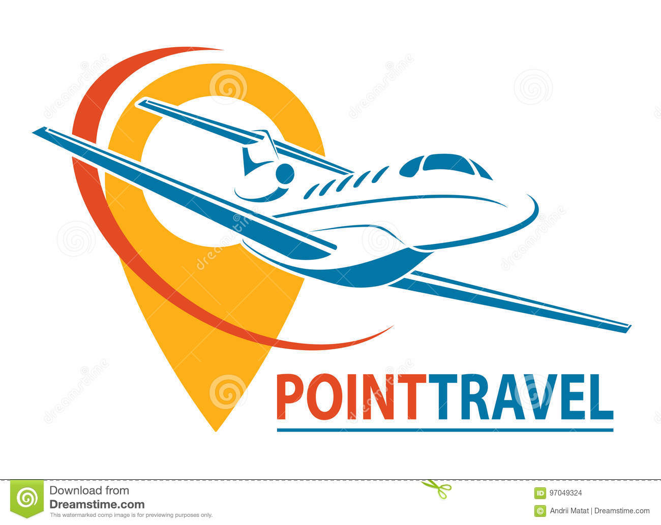 Plane Logo Design Creative Vector Icon With Plane And Ellipse Shape Vector Illustration Stock Vector Illustration Of Holiday Icon 97049324