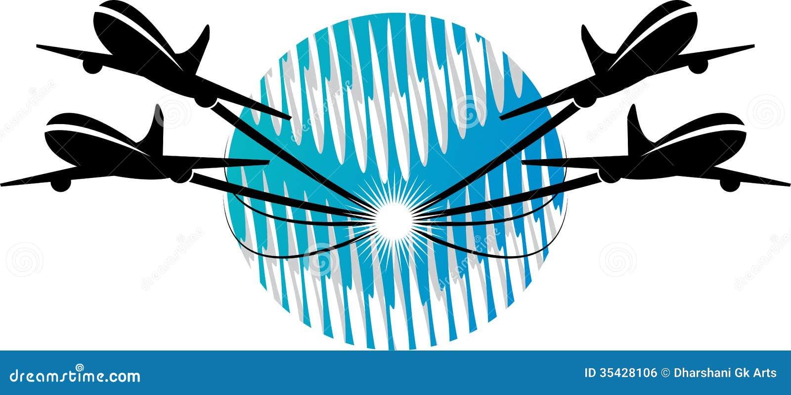 plane logo cartoon vector