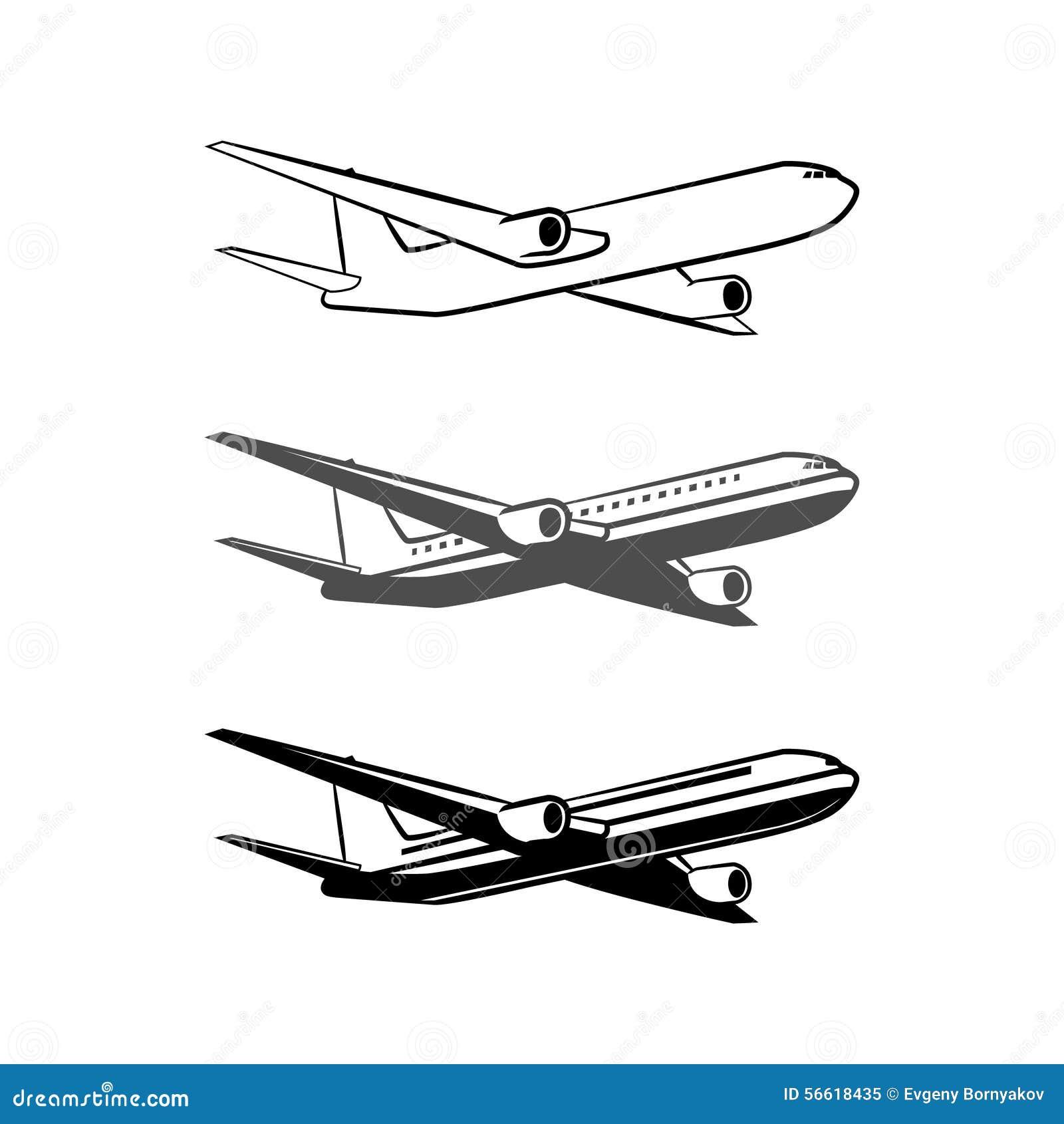 Plane logo stock vector image 56618435 for Illustration minimaliste