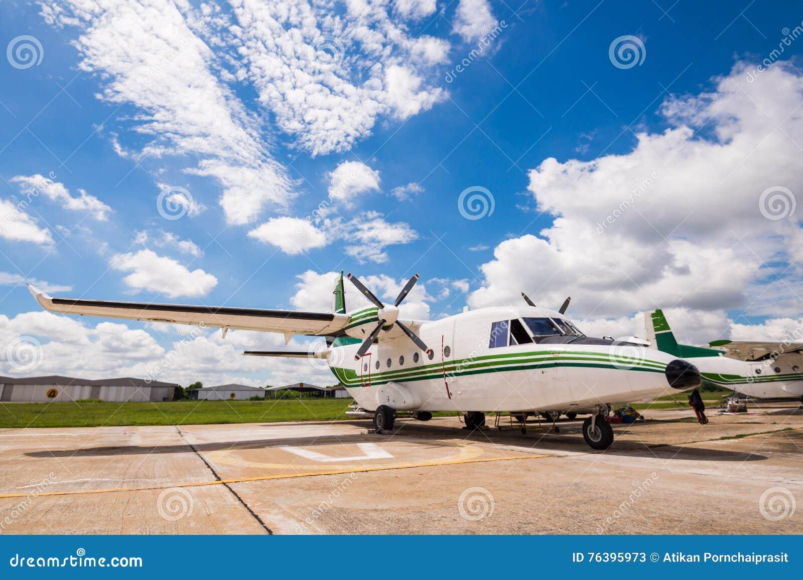 The plane made artificial rain