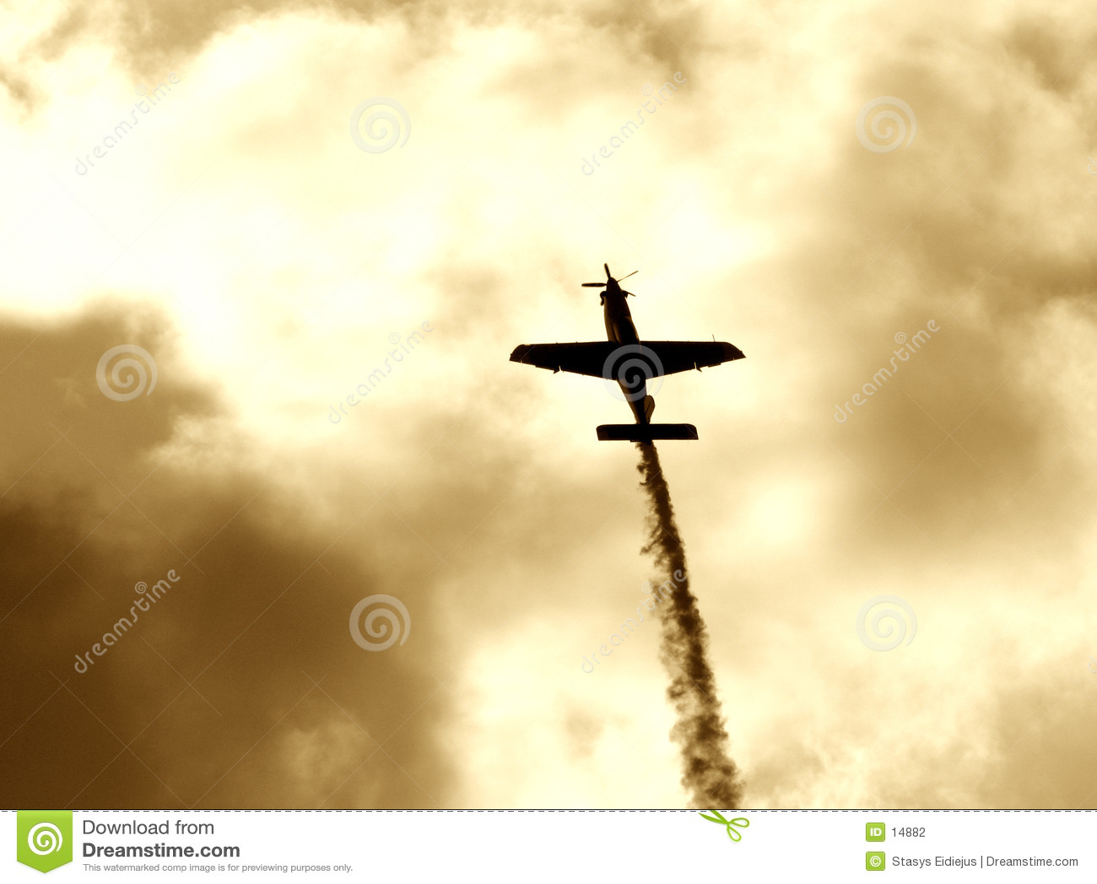 A plane making the smoke way II