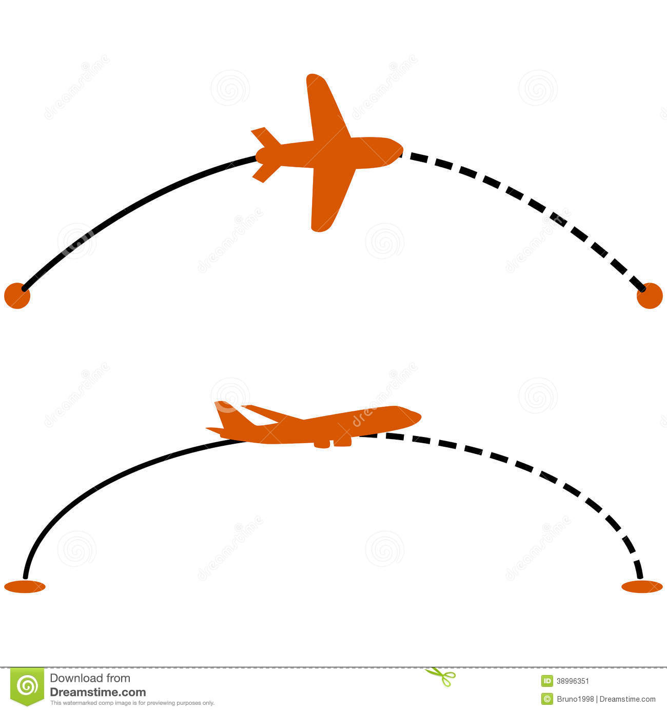 Plane Route Stock Vector. Illustration Of Dashed, Movement