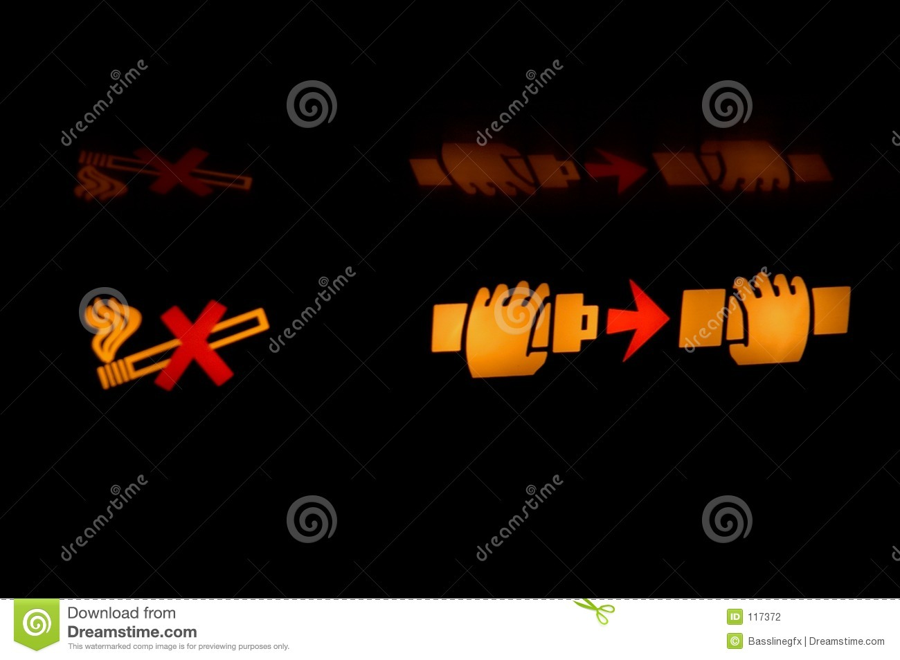 Displaying 20> Images For - Airplane Seatbelt Sign Clipart...