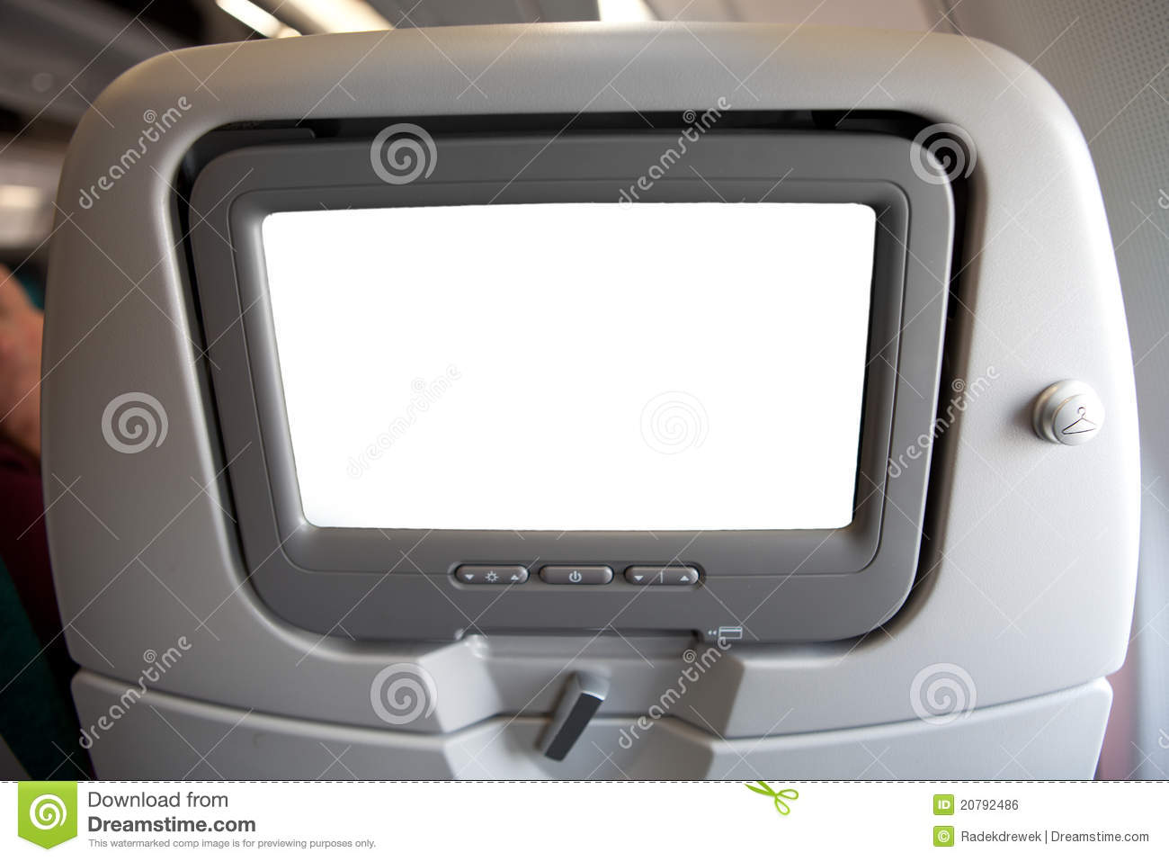 Plane Seat With Tv Screen Royalty Free Stock Image Image