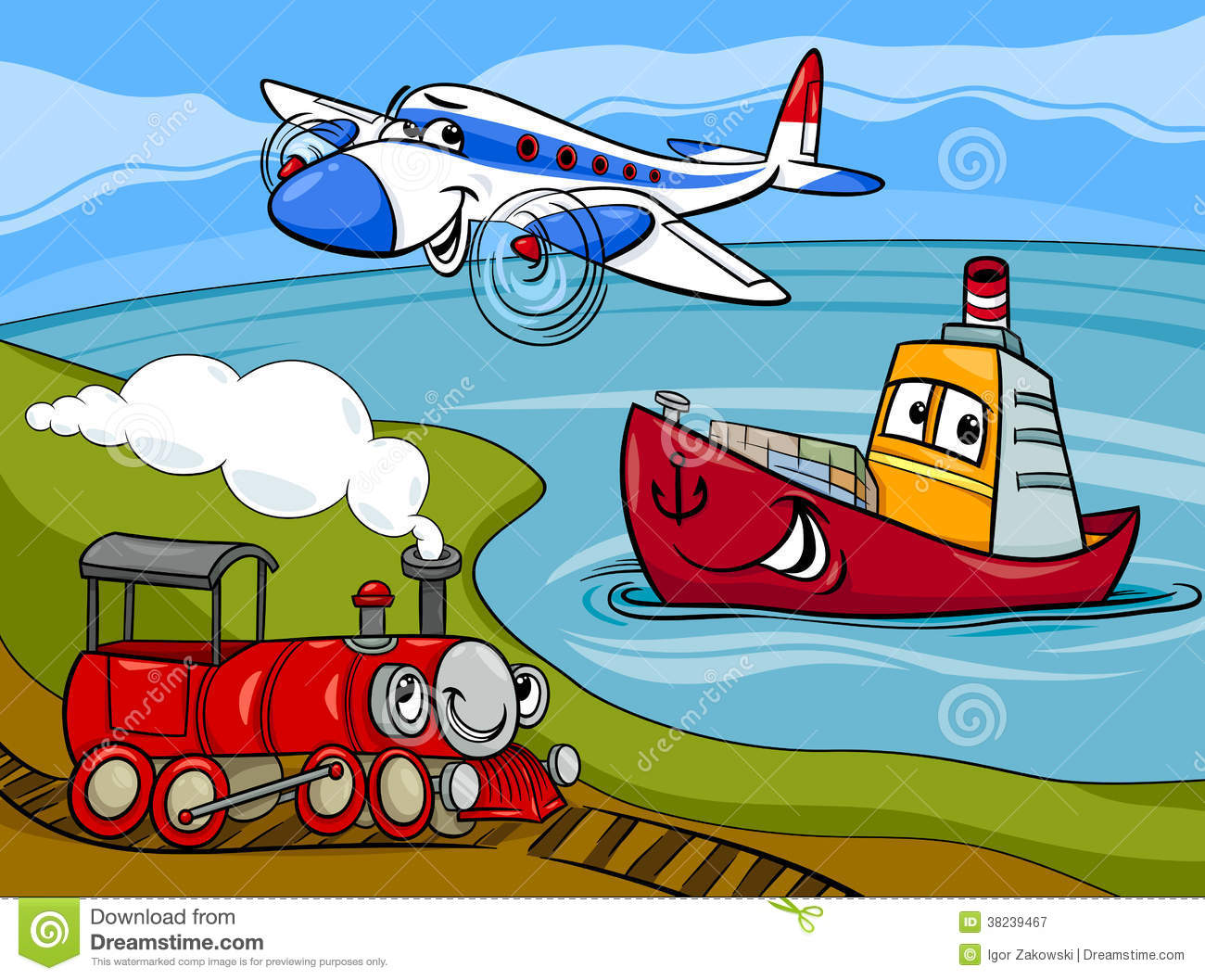 plane-ship-train-cartoon-illustration-38