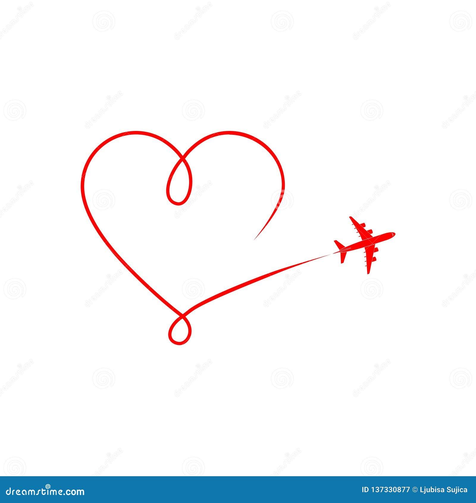 Plane Silhouette On A White Background Airplane Logo Or Icon