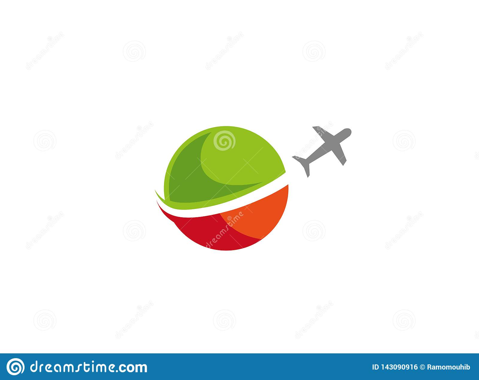 Plane take off around the globe a business travel for logo design