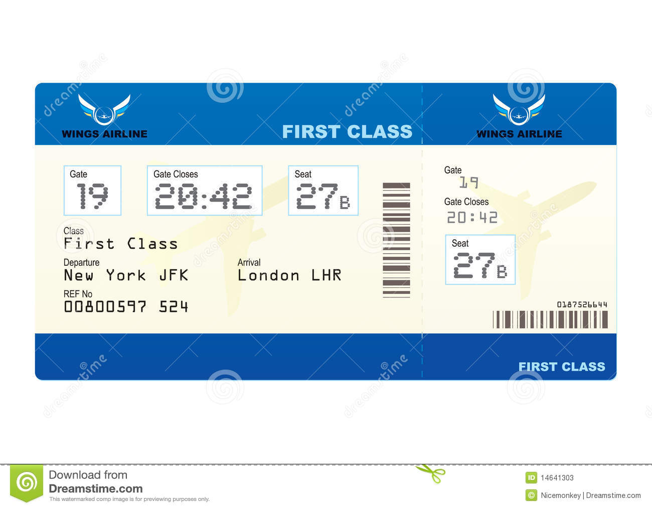 Plane Ticket Stock Vector Image Of Destination Board