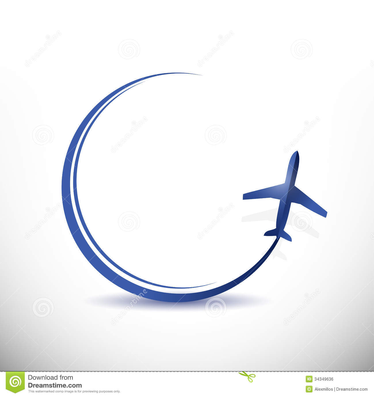 Plane Travel Destination Concept Illustration Royalty Free Stock Image