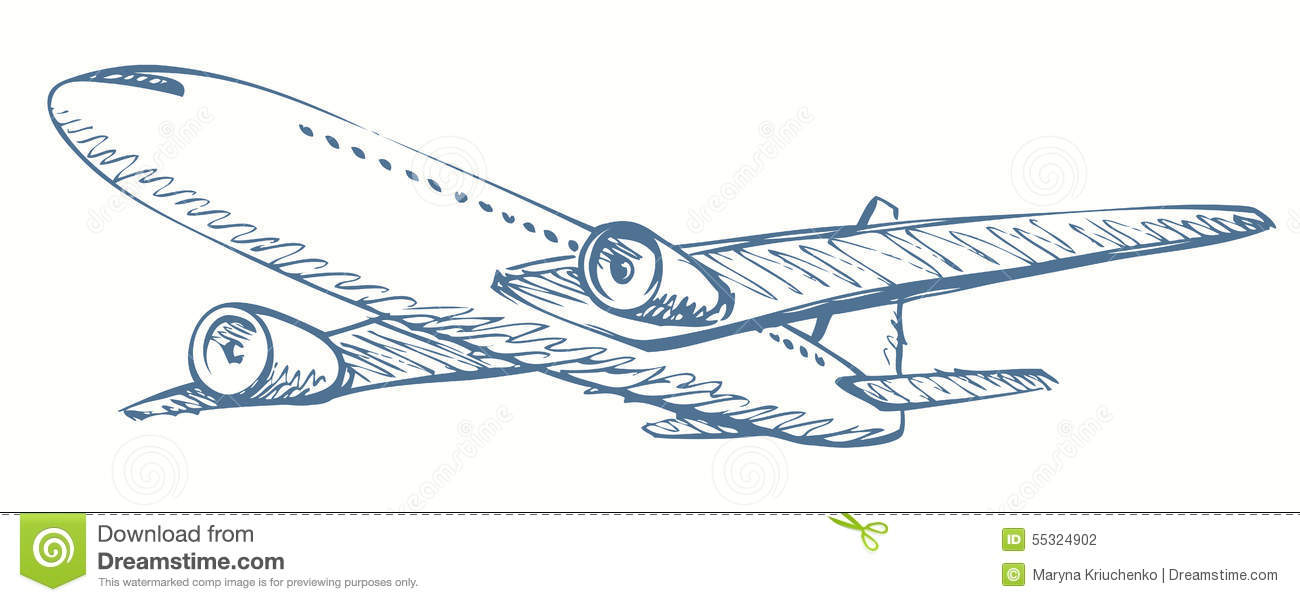 plane vector drawing stock vector image 55324902 paper airplane icon vector Bomber Vector
