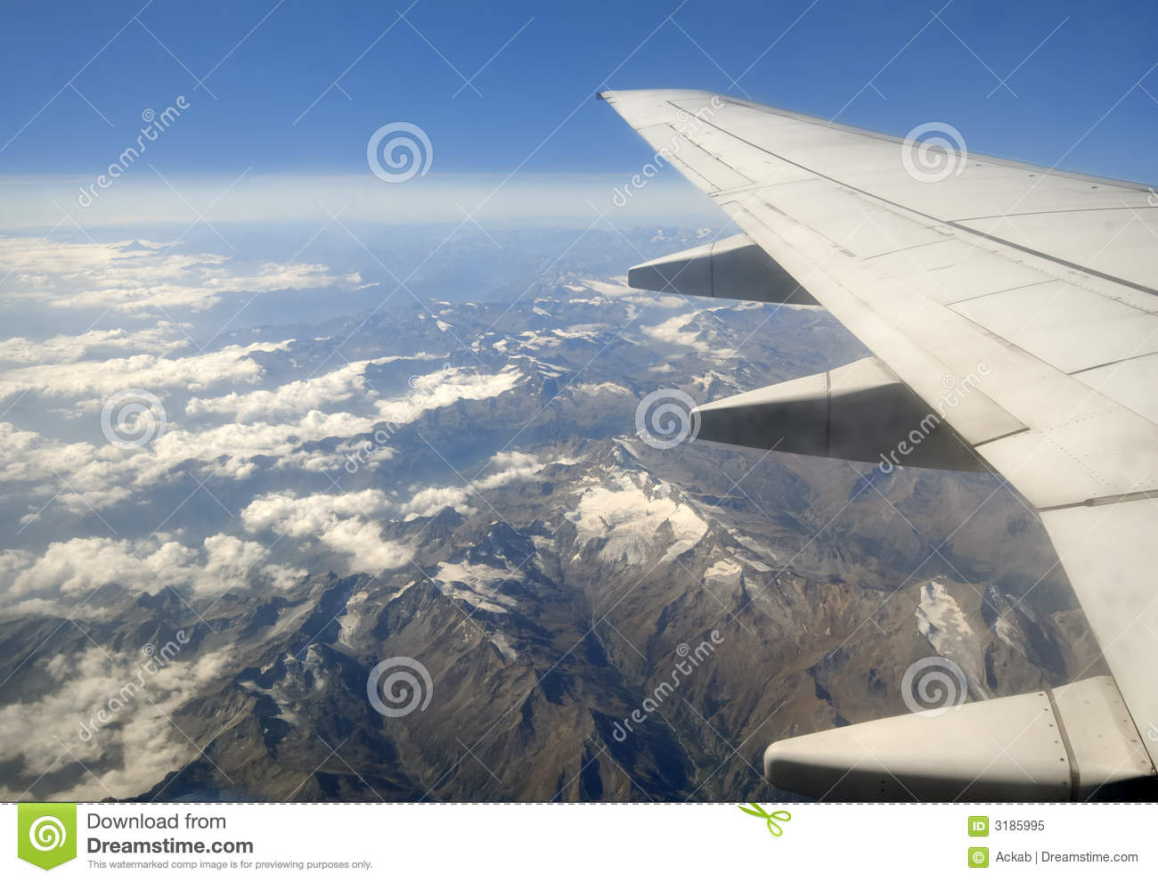 plane clouds and mountains - photo #40