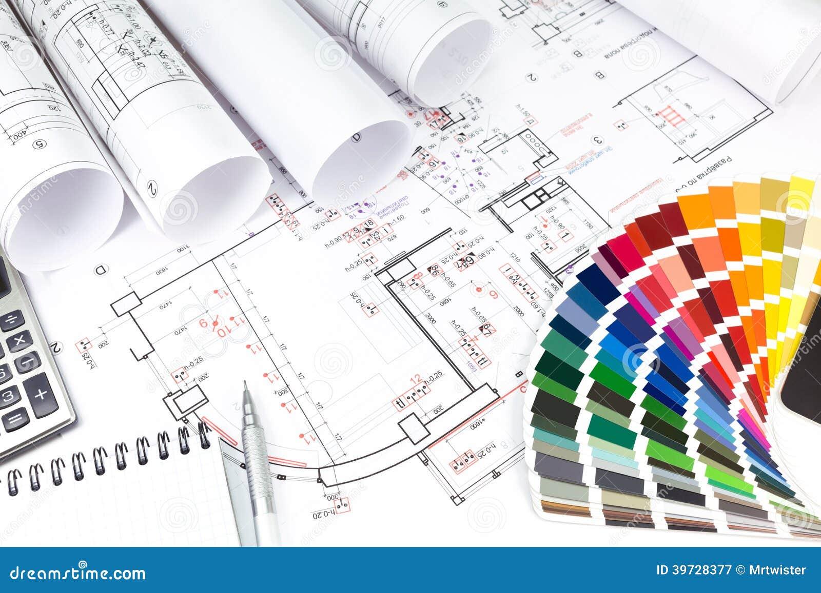 planeamiento del dise o de interiores foto de archivo