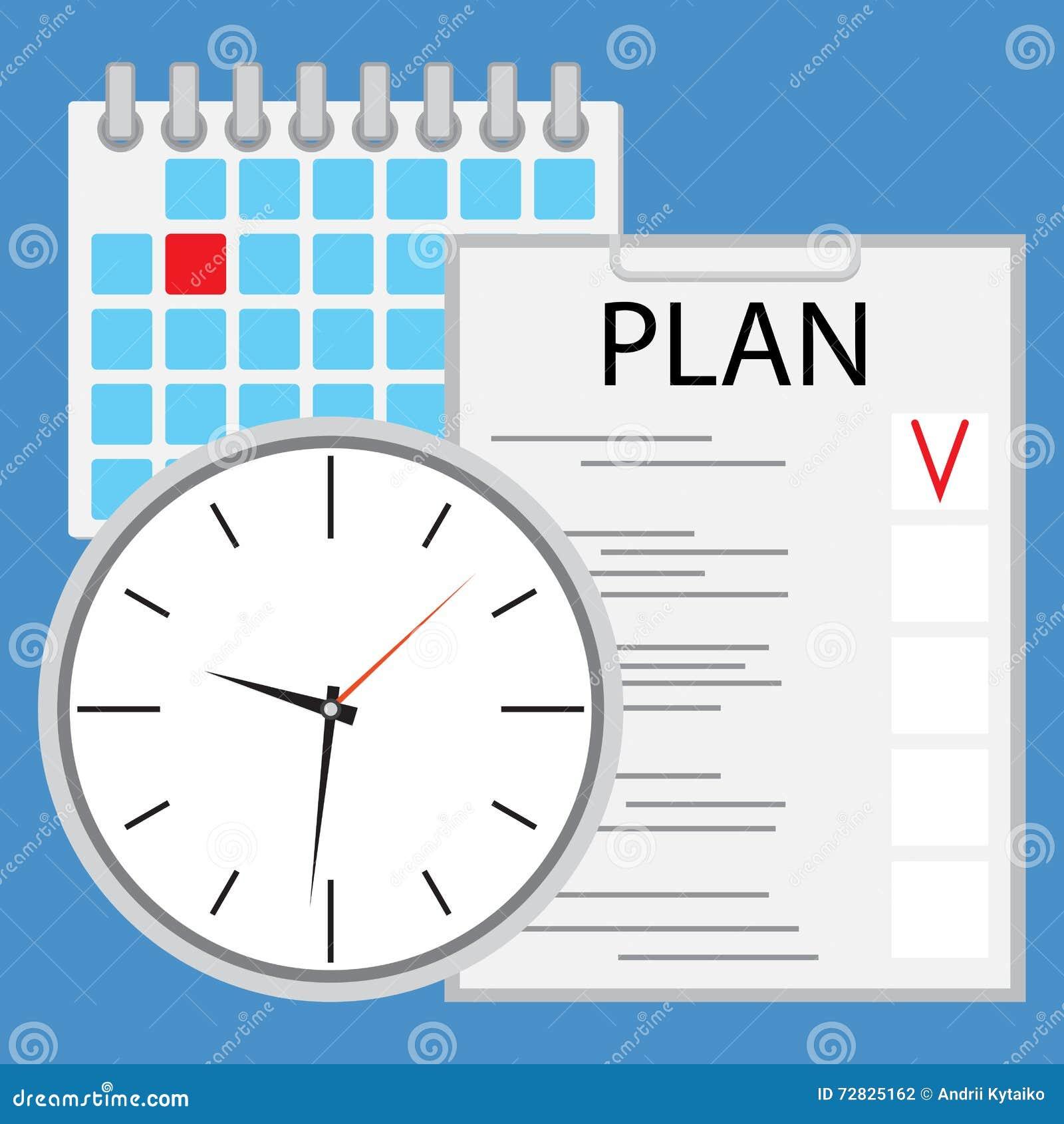Planeamiento y organización de tiempo planos