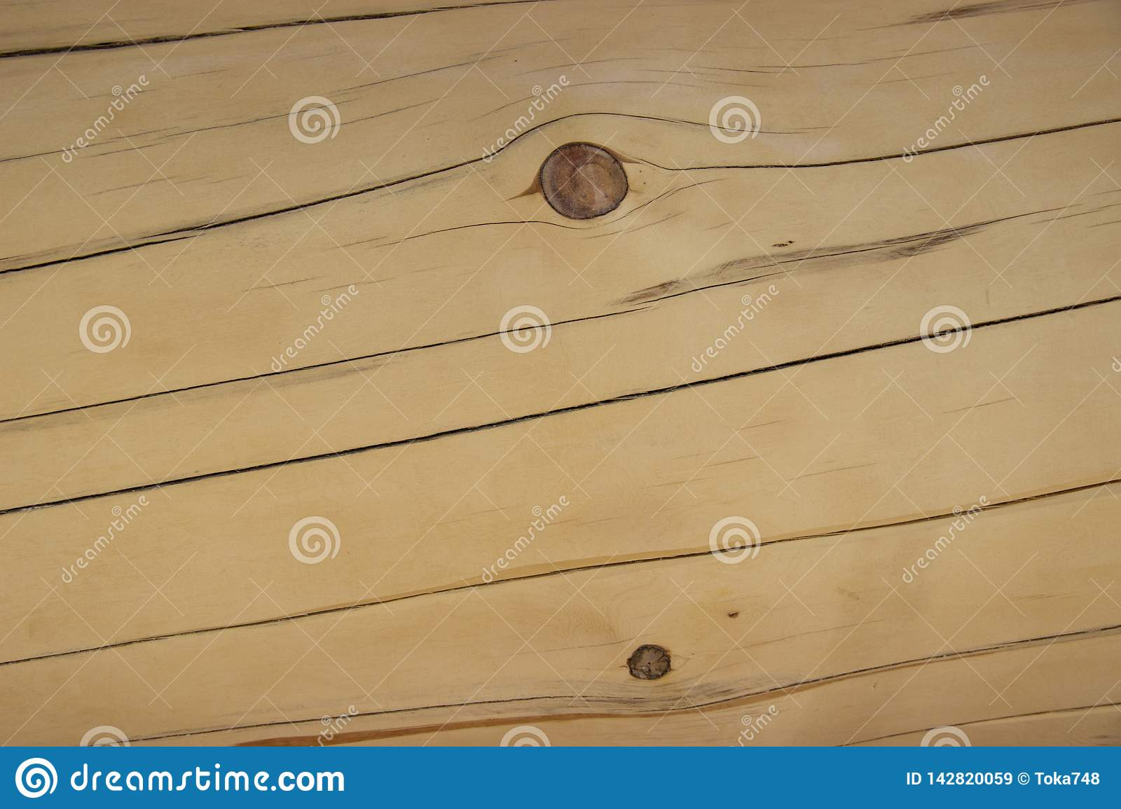 Planed timber with defects