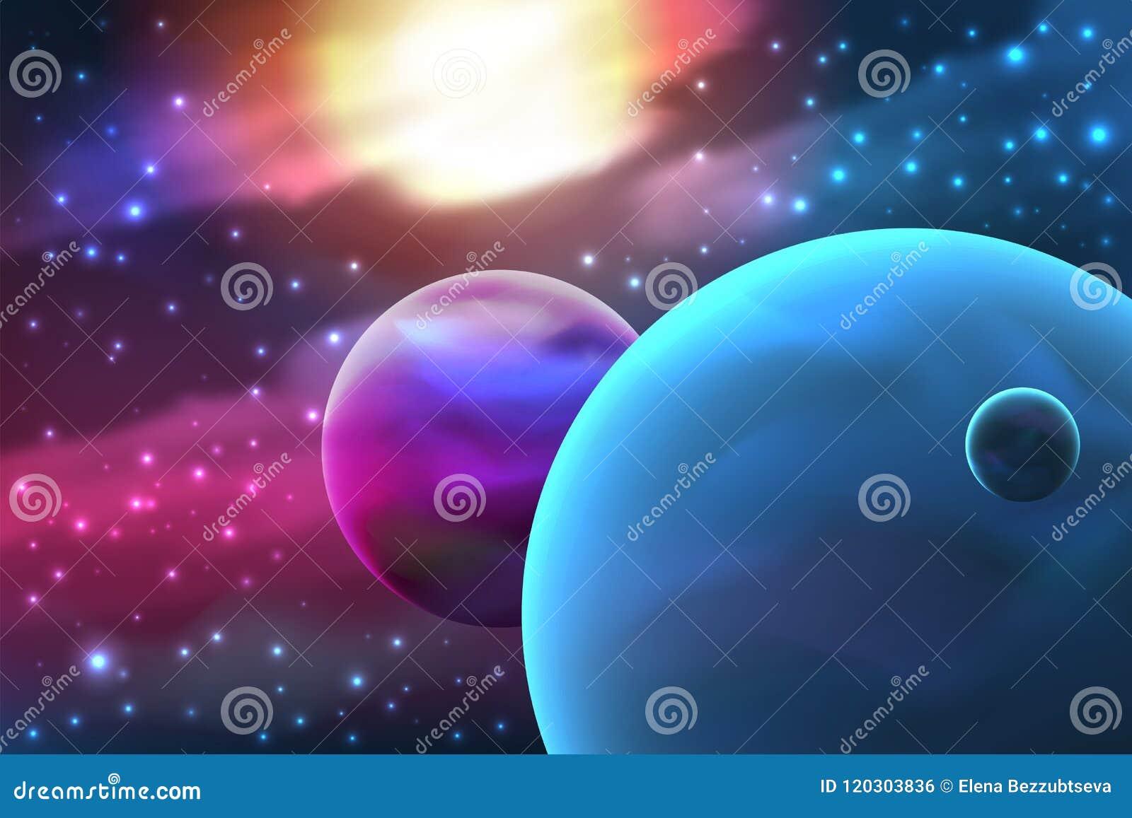 Planeet met maan