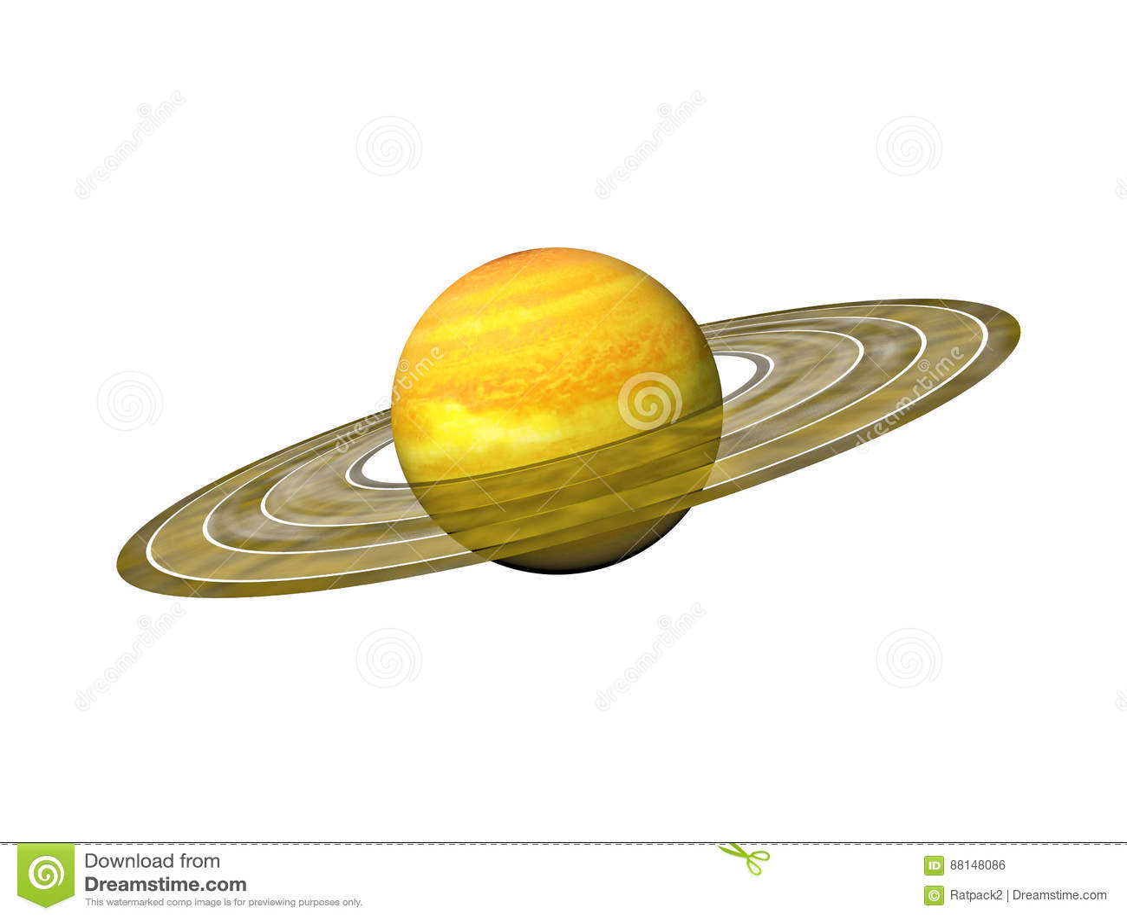 Planeet Saturnus met ringen