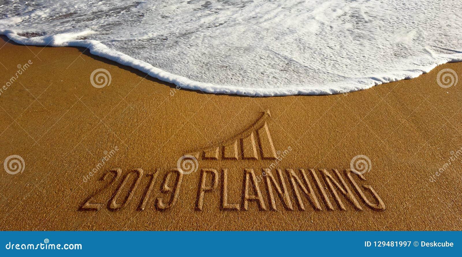 2019 planera motivation för nytt år Fotobild