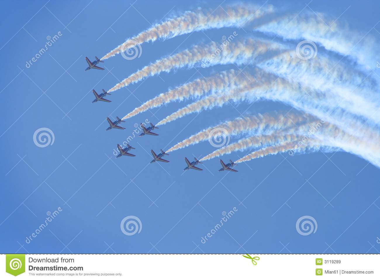 Download Planes in air show stock image. Image of emission, environment - 3119289