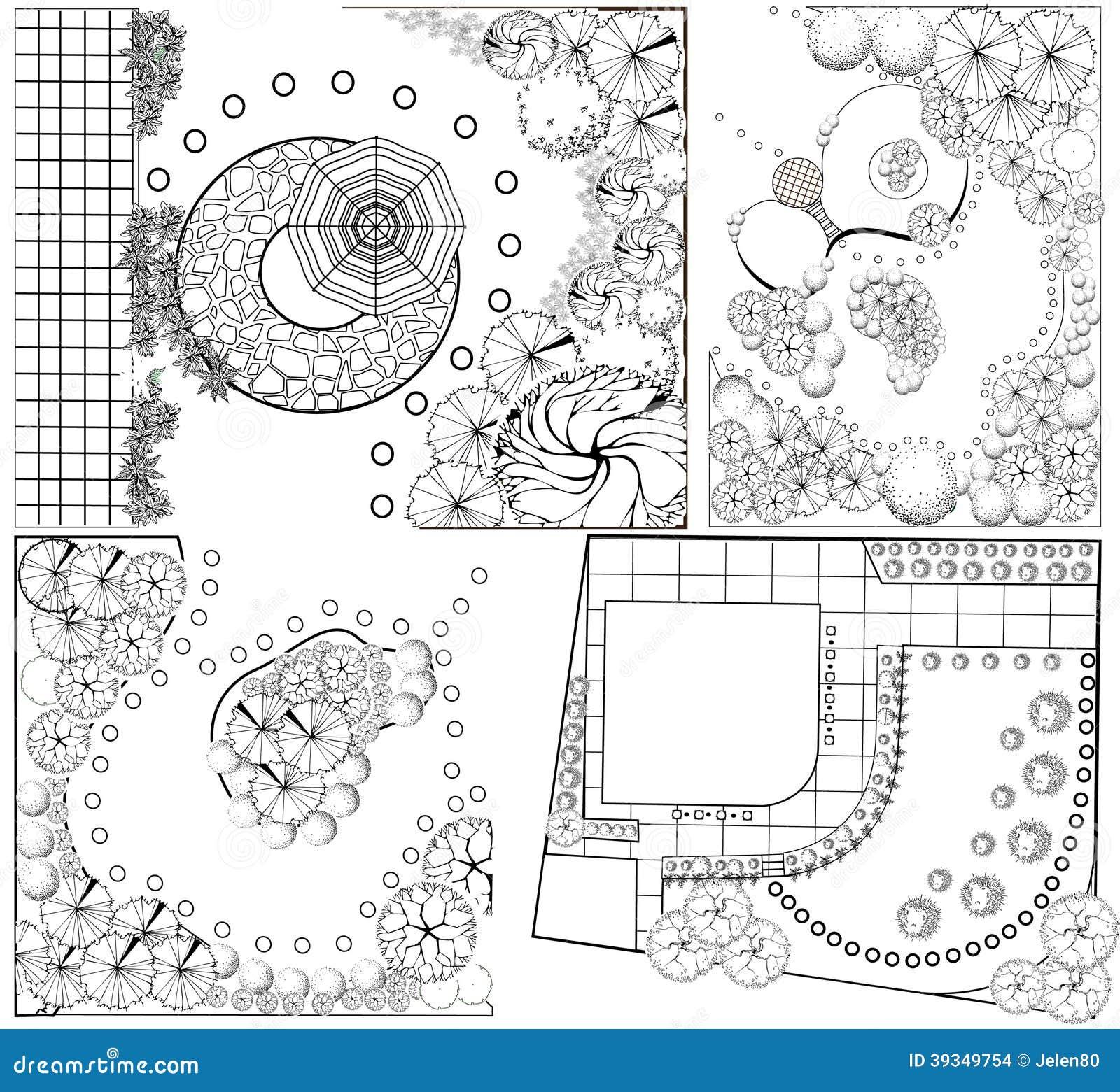 Planes del paisaje del od de las colecciones