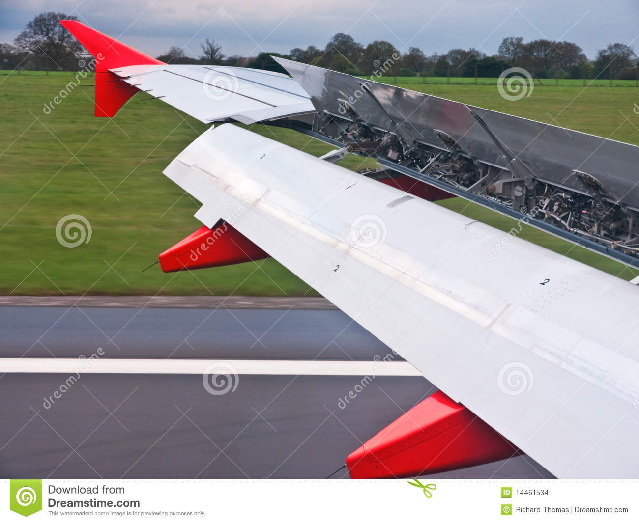 Planes wing flaps open stock images image 14461534 for Airplane plans